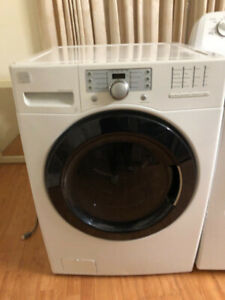 Kenmore front load glass washer stack able 3 yrs old