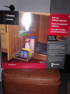 Chrome Pull out Cabinet Organizer (New)