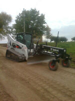 Laser Grading and Skidsteer Services
