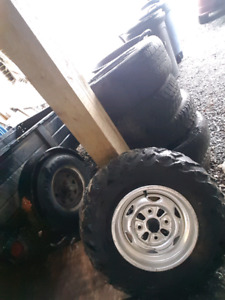 08 honda rubicon rims and tires