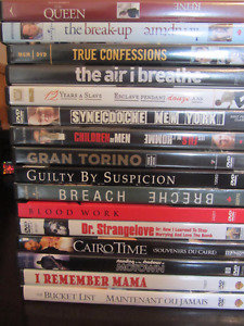 16 DVDs for $14 (12 Years a Slave, Gran Torino, Bucket List)