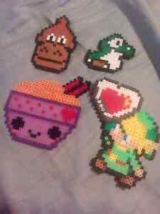 Perler Bead art and keychains