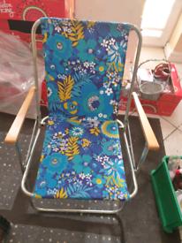 Metal deck chair