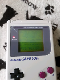 1989 Nintendo Gameboy + Tetris game cart