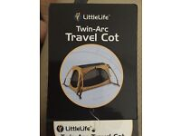 Little Life Twin Arc Travel Cot - hardly used