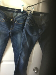 American Eagle Jeans 2prs both size 2