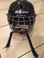 Bauer Helmet with a cage for boys