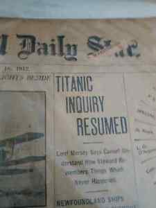 Titanic ...newspaper from may 16 1912