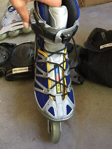 Salamon woman's 7.5 with am elbow/knee/wrist guards