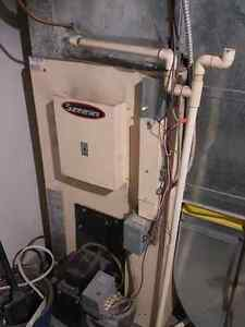 Wood furnace, Oil furnace, tank, and central air unit for sale