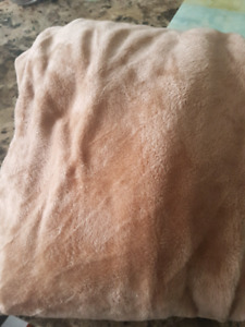 Brown plush couch cover