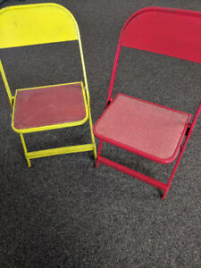 Vintage Children's / Child Folding Chairs