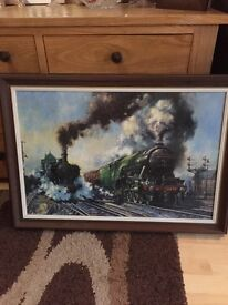 Large framed Alan Fearnley Train print