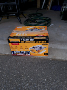 7 inch wet tile saw