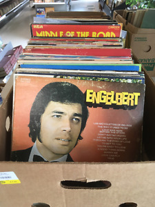 Hundreds of LP records