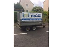 Indispension tipping trailer