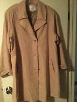 size 14 CLEO butter yellow trench coat