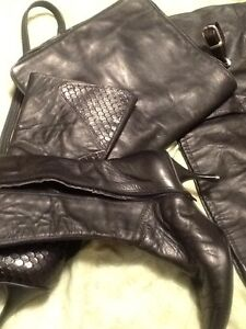 Real Leather:skirt, long coat, boots, wallet, bag Kitchener / Waterloo Kitchener Area image 4