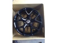 """Set of 4 18"""" Vauxhall style black alloy wheels only insignia Vw transporter"""