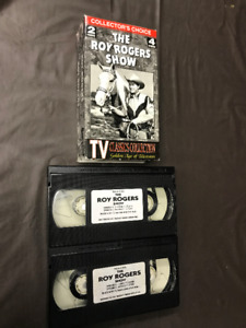 The Roy Rogers Show! Two VHS video box set! 4 Episodes!