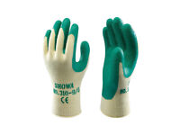 Work Gloves SHOWA 310 Grip Gloves - Latex Palm Coating Green - Size 9 - Large