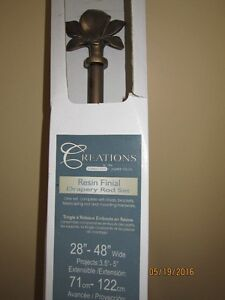 Drapery/Curtain Rod Set with Finial