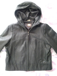 Real  leather jacket, size L. Almost new, only few times worn.