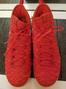 Nike KD 9 -  Red. Size 10 for Men. Slightly used!