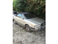 Audi 80 convertible v6 manual spares or repairs
