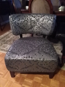 Large modern mosaic accent chair chsise d'appoint