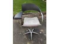 Salon Chair With Ashtray Retro Art Deco Style Hairdressers Hairdressing Barbers Home Office Chair