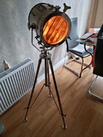 Nautical Movie Tripod Standing Chrome Floor Lamp for sale!