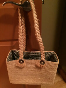 Chico's Square Straw Tote Bag - High Quality Weaving