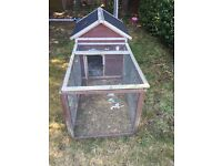 Rabbit Guinea Pig Hutch and Run SOLD