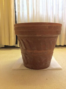 "3 - 12"" Decorative heavy duty outdoor garden pots $7.00 each Cambridge Kitchener Area image 1"