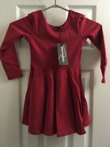 ROCK YOUR KID GIRL'S BURGUNDY MABEL DRESS AW18 (Size 5)