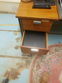 solid wooden desk with draws