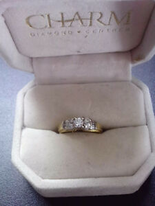 14k Engagement Ring with 0.60ct Diamonds