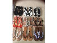 Women's flip flop, sandal bundle all uk size 5