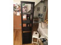 Ikea black shelving unit