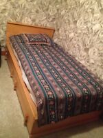 Single bed with mattress  38 x 79 ½""