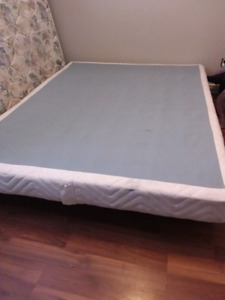 Queen boxspring and frame today only