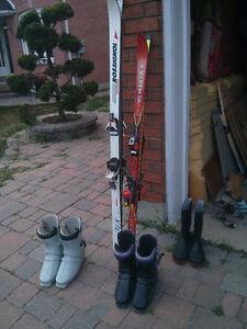 SKI Boots and Skis 2 sets