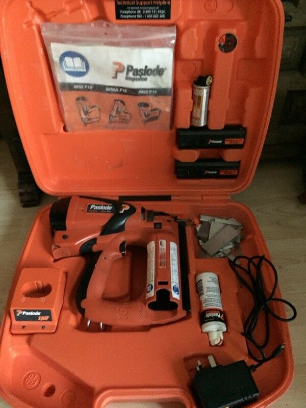 Paslode im 65 f16 second fix nail gun.