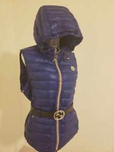 Blue Moncler Mens Hooded Vest Brand New Extra Large