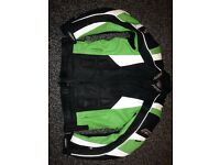 Green RST slice leather jacket as new