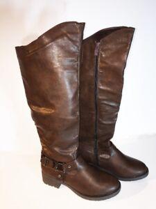 Anna Boots Jolene Heel Brown Knee High Riding NB200-48 Size 10