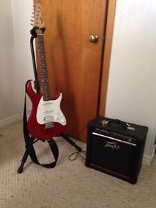 Peavey electric guitar and amp