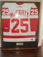 DARREN McCARTY AUTOGRAPHED RED WING JERSEY