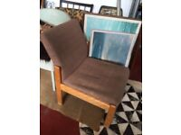 Vintage retro Parker knoll wooden fabric chair for Reupholstery mid century shabby chic